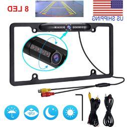 12V Car Rear View Backup Camera 8 IR Night Vision US License
