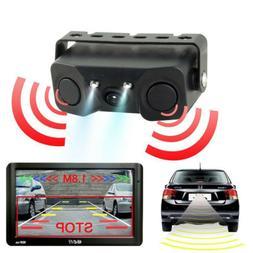 12DCV Car Reverse Backup Parking Radar Rear View Camera With