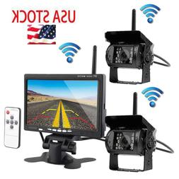 "2 X Wireless Rear View Backup Camera Night Vision + 7"" Monit"
