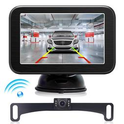 "2019 New Upgrade 5"" Car Rear View Monitor Wireless Backup Li"