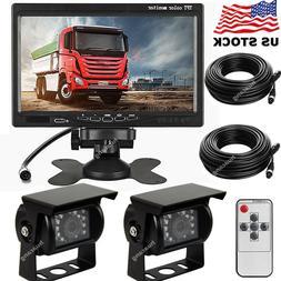 """2x Vehicle Backup Cameras Waterproof Kit + 7"""" TFT LCD Monito"""