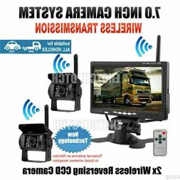 2X Wireless IR Rear View Back up Camera Night Vision System+
