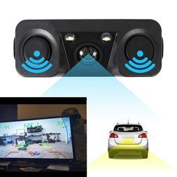 3in1 170° Car Visual Reversing Rear View Camera + Backup Ra