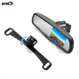 "4.3"" Car Rear View Mirror Monitor Bracket+HD US License Plat"
