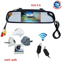 4.3 inch LCD Mirror Monitor Rear View System Wireless Backup