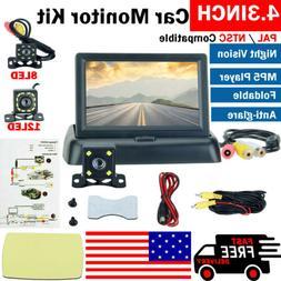 """4.3"""" LCD Monitor Car Backup Reverse Camera Rear View Parking"""