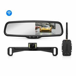 "4.3"" LCD Wireless Car Rear View Mirror Monitor OEM + Night V"