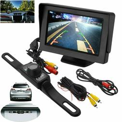 Car Backup Camera Rear View Parking System Night Vision w/ 4