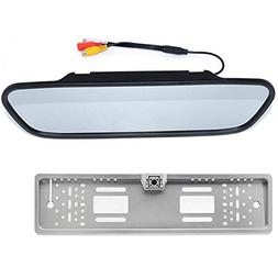 BOOMBOOST - 5 inch Rearview Mirror Display European 4LED Lic