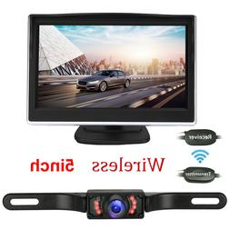 """5"""" LCD Wireless Car Backup Camera Rear View Parking System N"""