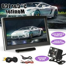 """5"""" TFT LCD Monitor Car Backup Camera Rear View HD Parking Sy"""