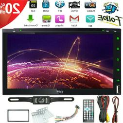 "7"" Double 2 Din Car Stereo CD DVD Player HD Radio Bluetooth"