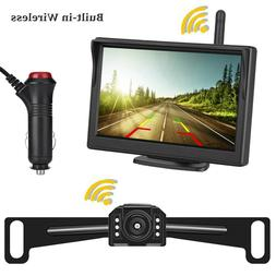 Built-in Wireless Vehicle Backup Camera 5 inch Rear View Mon