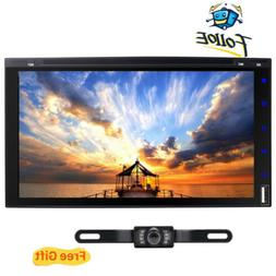 """7"""" Double 2 Din Car Stereo HD CD DVD Player Radio Bluetooth"""