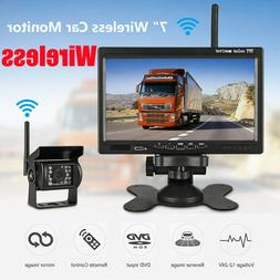 "7"" Monitor Wireless IR Rear View Back up Camera Night Vision"