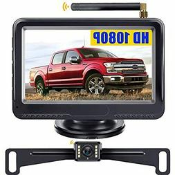 720P Wireless Backup Camera And 4.3inch Monitor System For C