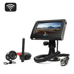 Rear View Safety Wireless Backup Camera System with Cigarett