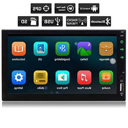 New Eincar Android 6.0 Car Stereo Radio Double Din with Blue