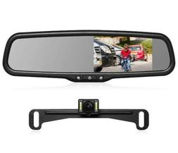 AUTO-VOX T2 Backup Camera Kit,OEM Rear View Mirror Monitor w