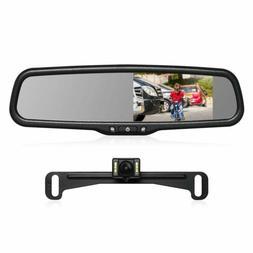 Auto-Vox T2 Car Rear View Reversing Kit 4.3'' LCD Mirror Mon