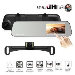 AUTO-VOX M6 Mirror Dual  Dash Cam Backup Camera  with 4.5''