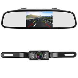LeeKooLuu Backup Camera and 4.3'' Mirror Monitor Kit for Car