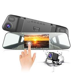 "Jeemak Backup Camera 4.3"" Touch Screen Mirror Dash Cam 108"