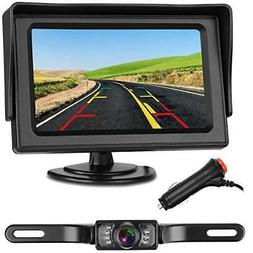 Emmako backup Camera and 4.3 display Monitor Kit Waterproof