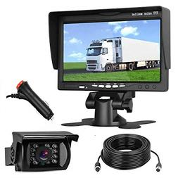 LeeKooLuu HD 720P Backup Camera and 7'' Monitor 12V-24V Syst