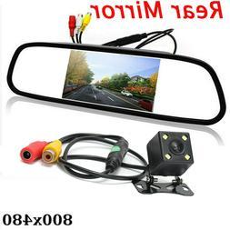 """Backup Camera and Monitor Kit +4.3"""" Car Vehicle Rear view Mi"""