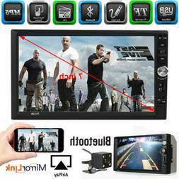 Backup Camera+Double Din Car Stereo Radio mp3 Player Bluetoo