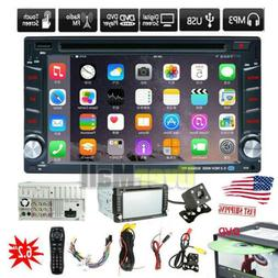 Backup Camera+Double Din Car Stereo Radio mp3 Player Bluetoo