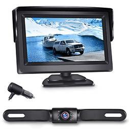 eRapta Backup Camera ERT01 with 4.3 inch Monitor License Pla