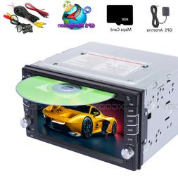 Backup Camera GPS Double Din Car Stereo Radio DVD mp3 Player