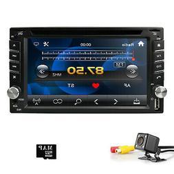 Backup Camera+GPS Navi Double 2 Din Car Stereo Radio DVD CD