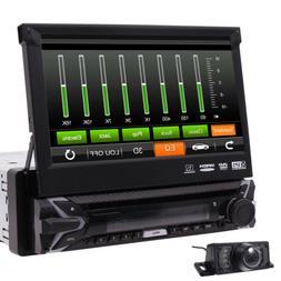 Backup Camera+GPS Single 1 Din Car Stereo Radio HD DVD Playe