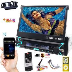 Backup Camera+GPS Single 1Din Car Stereo Radio HD DVD Player