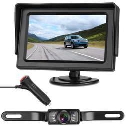 LeeKooLuu Backup Camera Mirror Monitor System for RV/Car/Tru