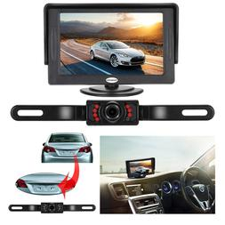 Backup Camera Monitor Kit For Car Universal Wired Waterproof