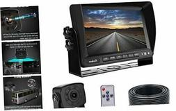 Backup Camera Monitor Kit Van, RV, Upgraded 175º Wide View