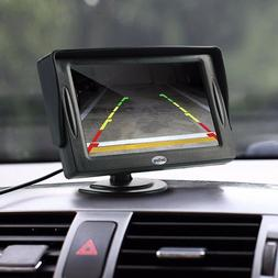 Backup Camera System: HD Rear View License Plate Camera LCD