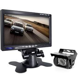 Backup Camera and Car 7 Inch Monitor Screen Waterproof Rear