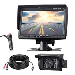TOGUARD Backup Camera Kit, 7'' LCD Rear View Monitor wit