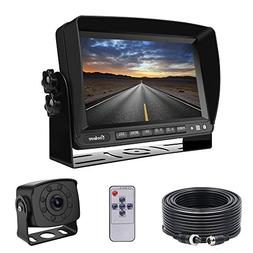 Backup Camera Monitor Kit Van, RV, Upgraded 175º Wide View