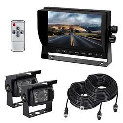 Backup Camera and Monitor Kit, Esky Dual Backup Cameras and