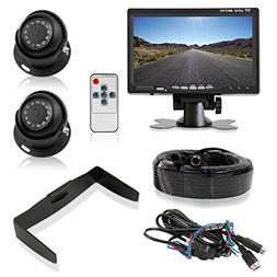 """Pyle Backup Camera System with 2 Weatherproof Cams & 7"""" Re"""
