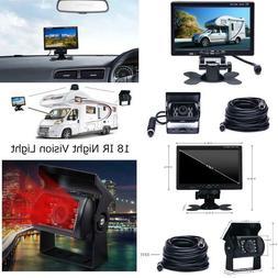 """Camecho Vehicle Backup Camera 7"""" Tft Monitor,18 Ir Night Vis"""