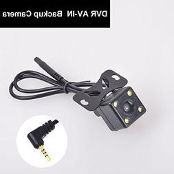 Car Backup Cam 2.5mm AV-IN for Auto Dash Camera DVR Camcorde