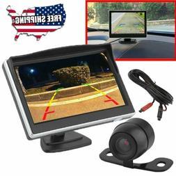 """Car Backup Camera HD Rear View System Night Vision + 5"""" TFT"""