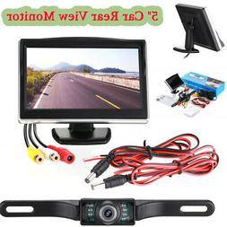 Car Backup Camera Rear View HD Parking System w/ Night Visio